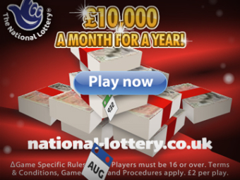 Camelot – £10,000 A Month For A Year!